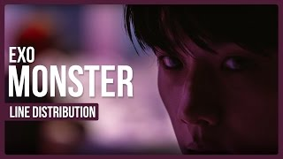 Video EXO - Monster Line Distribution (Color Coded) *UPDATED* download MP3, 3GP, MP4, WEBM, AVI, FLV Agustus 2018
