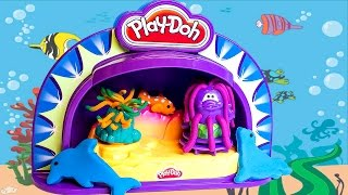 Play-doh Make Display Stage Show Aquarium Diy Playdough Fish Dolphin Octupus Hasbro Toys