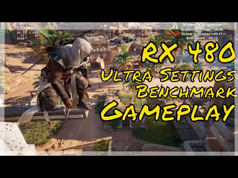 Assassin's Creed Origins RX 480 Gameplay Benchmark Ultra settings 1080P
