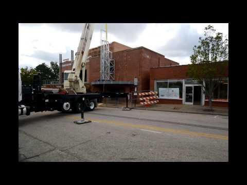 McConnell Studios - Cary Theater marquee structure installation time lapse