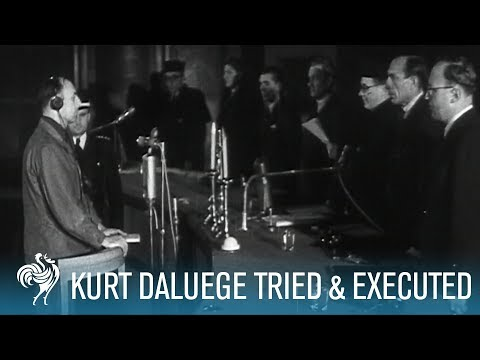Nazi Chief Kurt Daluege Tried & Executed by Hanging (1946) | British Pathé