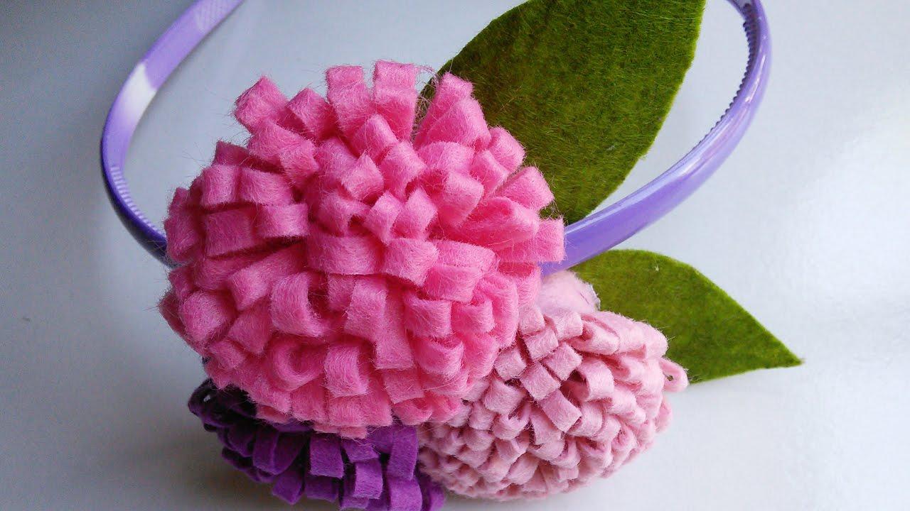 Felt Craft Tutorial Flower Craft For Headbands