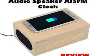 Eachine X5 Wood Stereo Audio Speaker Alarm Clock Review