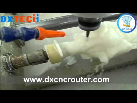 DX multiheads rotary CNC Router making Jade statue