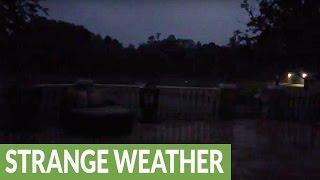 Dramatic sheet lightning illuminates Florida sky
