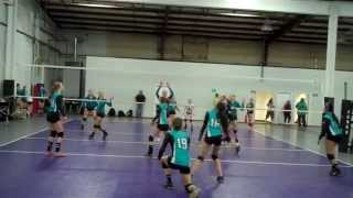 Dune's Volleyball Classic 2014 - 14u Open - 1st round of playoff (pt 1)
