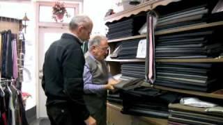 Emil Fusaro, Tailor - Picking the Fabric