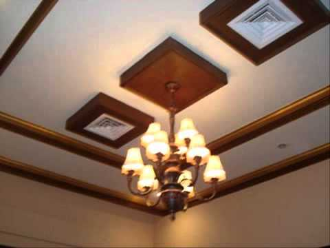 ฝ้าเพดานไม้เทียม วิธีทำฝ้าแขวน