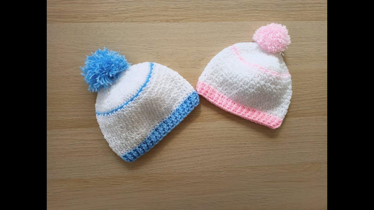 Como hacer en crochet o ganchillo un gorro básico