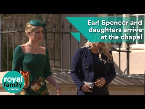 Royal Wedding: Princess Diana's brother Earl Spencer and daughters arrive