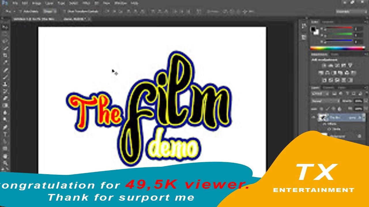 Cách tạo chữ đẹp trong Photoshop – Tạo 3 lớp màu hoặc nhiều hơn – Create 2 stroke or more
