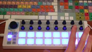 Arturia Beatstep Sequencer in action