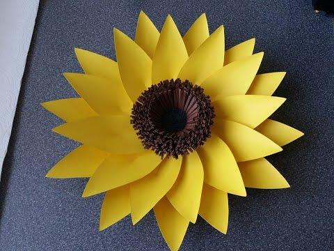 How To Make Adele Giant Paper Flower (sunflower) - YouTube