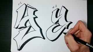 "How to draw Graffiti Letter ""Y"" on paper"