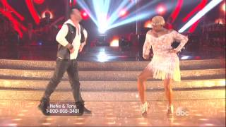 Tony Dovolani & NeNe Leakes dancing Cha cha cha with practice on DWTS 3 17 14