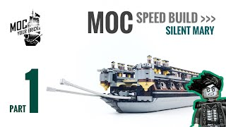 Lego pirate ship MOC : Silent Mary Speed Build Part 1
