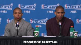 Isaiah Thomas & Al Horford Postgame Interview - Game 1 vs Wizards