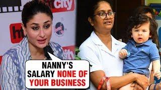 Kareena Kapoor SHOCKING Reaction On Taimur Ali Khan's NANNY Salary
