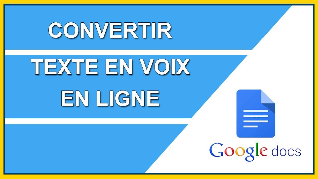 Convertir Texte En Voix En Ligne Youtube