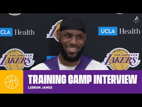 LeBron discusses his relationship with Coach Vogel, and Opening Night excitement | Lakers Practice