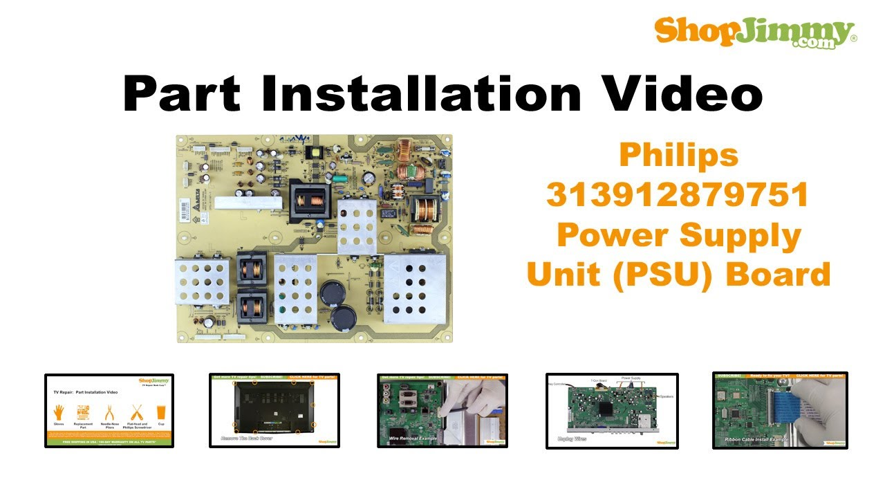 philips 313912879751 power supply unit psu boards replacement rh youtube com Philips Television Philips Instruction Manuals