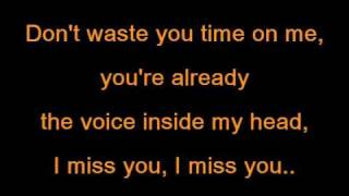 Blink 182 - I miss you lyrics