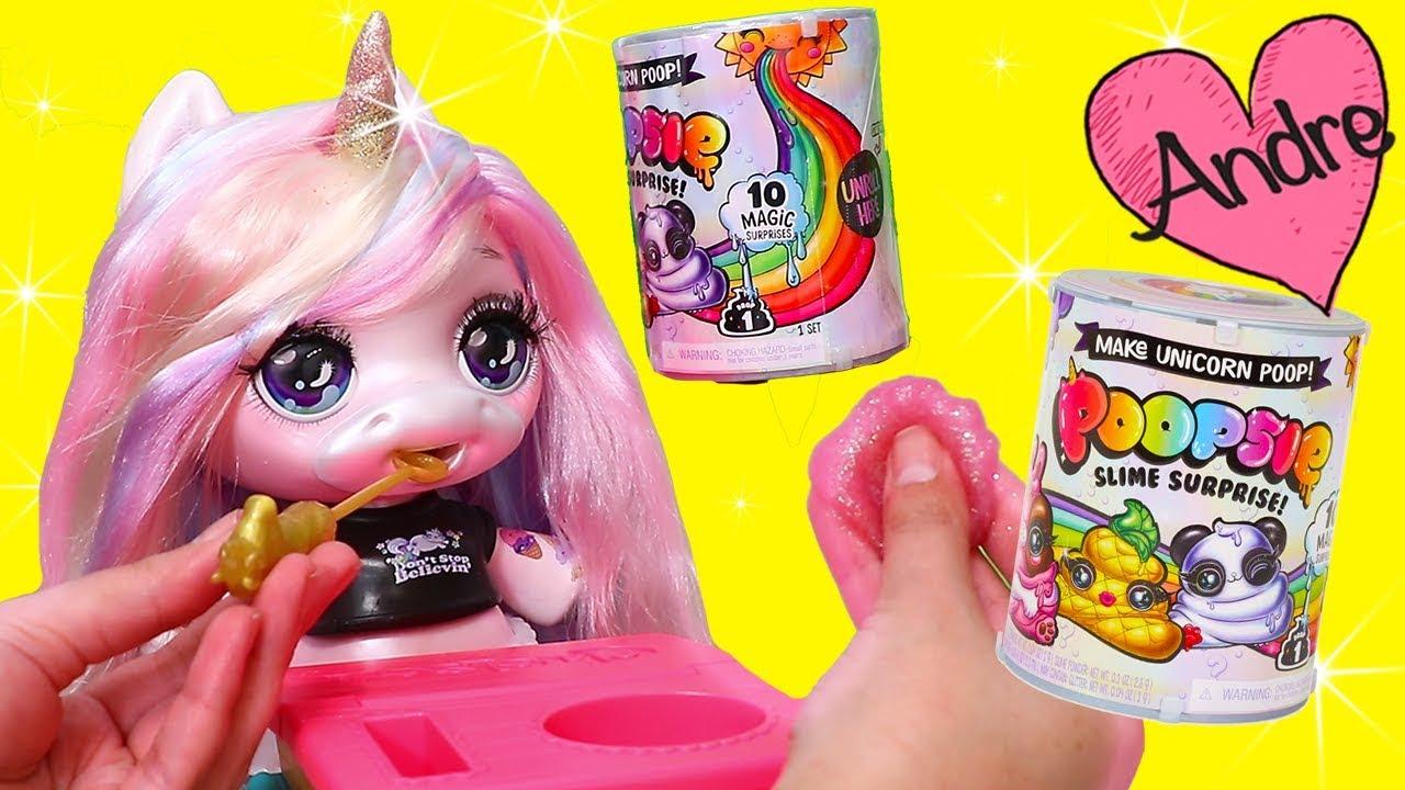 La Muñeca Unicornio Come Comida Que Se Hace Slime Juguetes Con Andre Para Niñas Y Niños