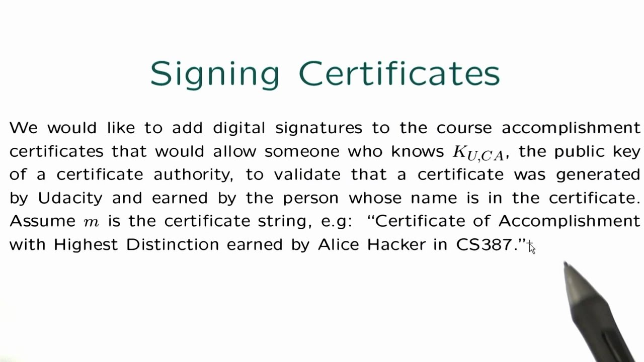 Signing certificates applied cryptography youtube signing certificates applied cryptography xflitez Choice Image