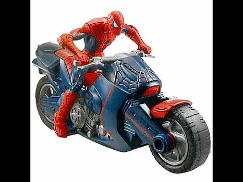 Spiderman motorcycle toy spiderman toys for kids youtube - Spider man moto ...