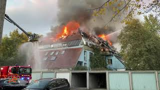 Impressionnant feu d'immeuble à Mulhouse