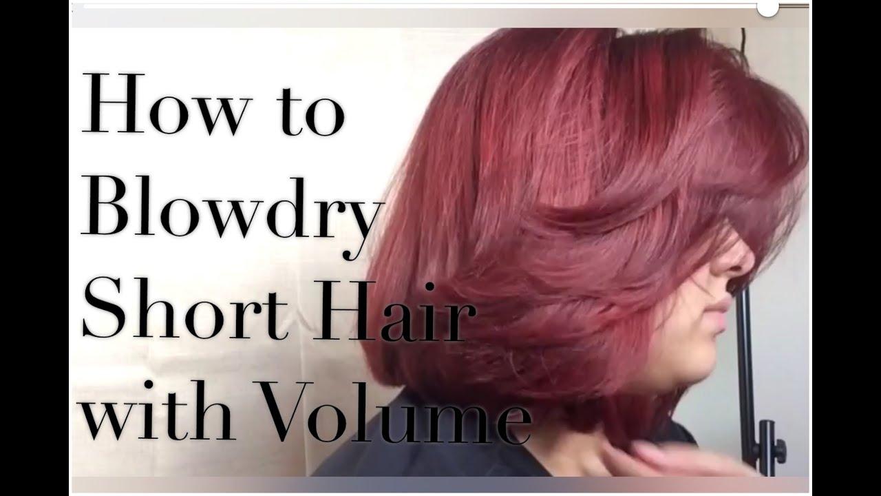 blow-dry short hair