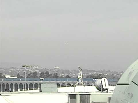 Space Shuttle Endeavour Flyover and LAX Landing