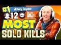 MY MOST SOLO KILLS on Fortnite Battle Royale