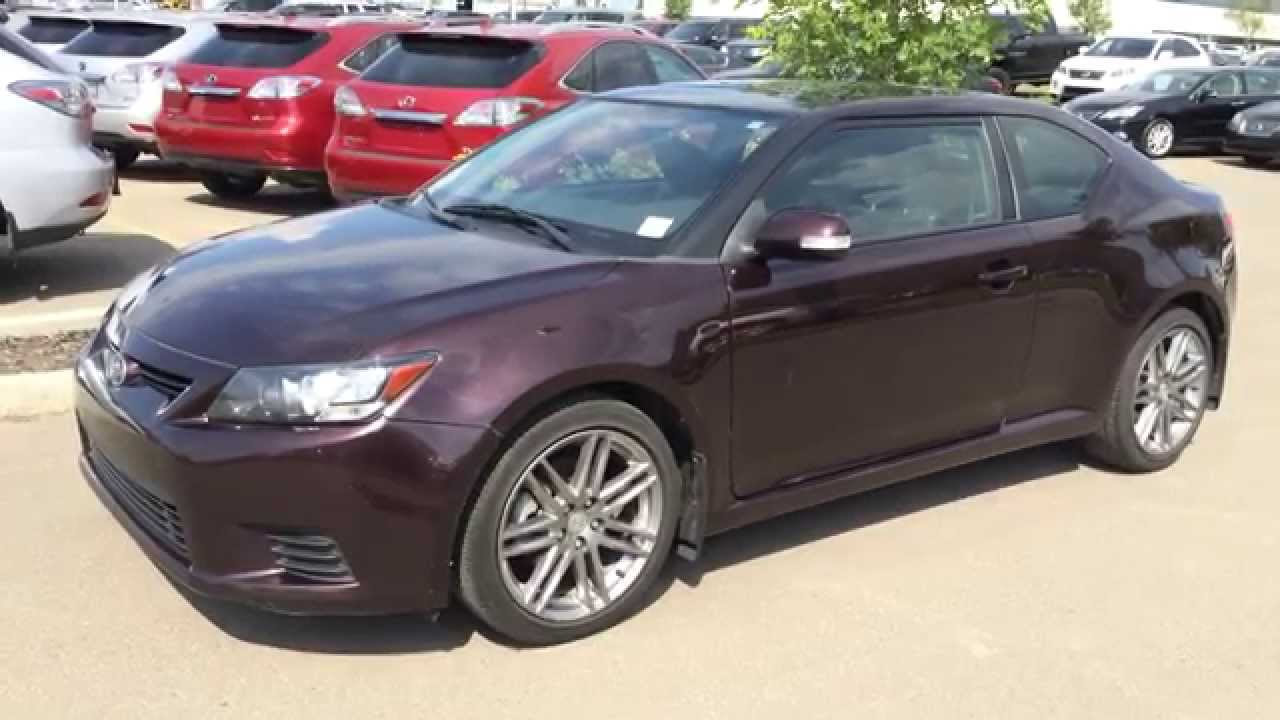 pre owned maroon on black 2011 scion tc 2dr manual. Black Bedroom Furniture Sets. Home Design Ideas