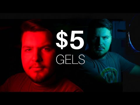 DIY Colored Gels for CHEAP! Creative Cinematic Lighting Tips