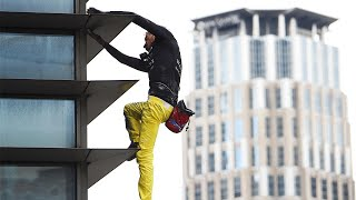 'French Spider-Man' Scales Skyscraper Without Harness
