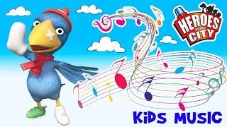 Los niños Canciones | La Calamidad Crow Song - Héroes de la Ciudad | ♫ | Coche de dibujos animados | Coche de dibujos animados