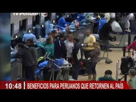 Beneficios para peruanos que retornen al Perú
