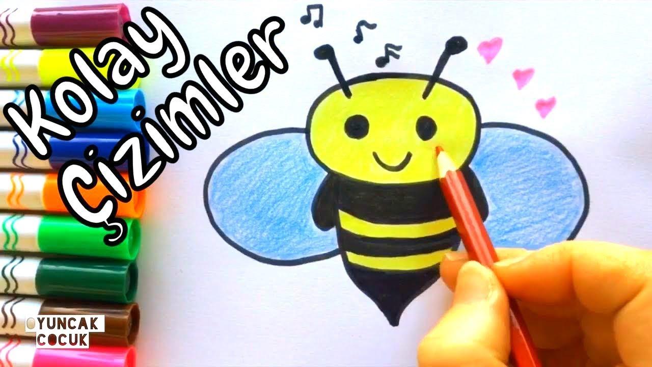 Sevimli Arı çizimi Kolay çizim Ve Boyama Videoları Kawaii Easy