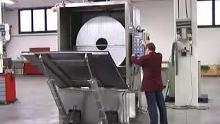 Máquina de limpieza de piezas de grandes dimensiones - lavadora de cesta rotativa