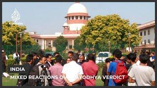 As Hindus rejoice, Muslim reaction mixed over Ayodhya verdict