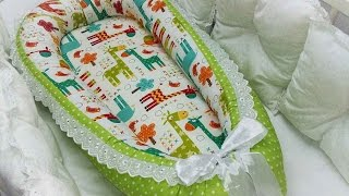 Гнездышко кокон для новорожденных своими руками выкройка / babynest pattern English subtitles