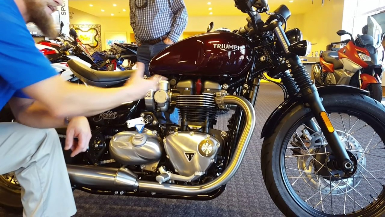 2017 triumph bonneville bobber in morello red deliverednate