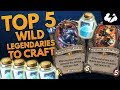 Top Five Wild Neutral Legendaries To Craft | Hearthstone | [Rastakhan's Rumble]
