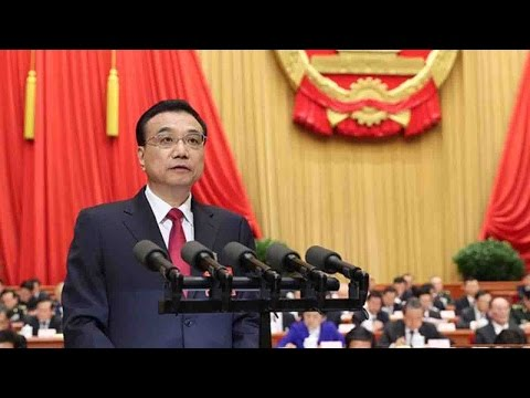 Chinese Premier Li Keqiang delivers annual gov't work report