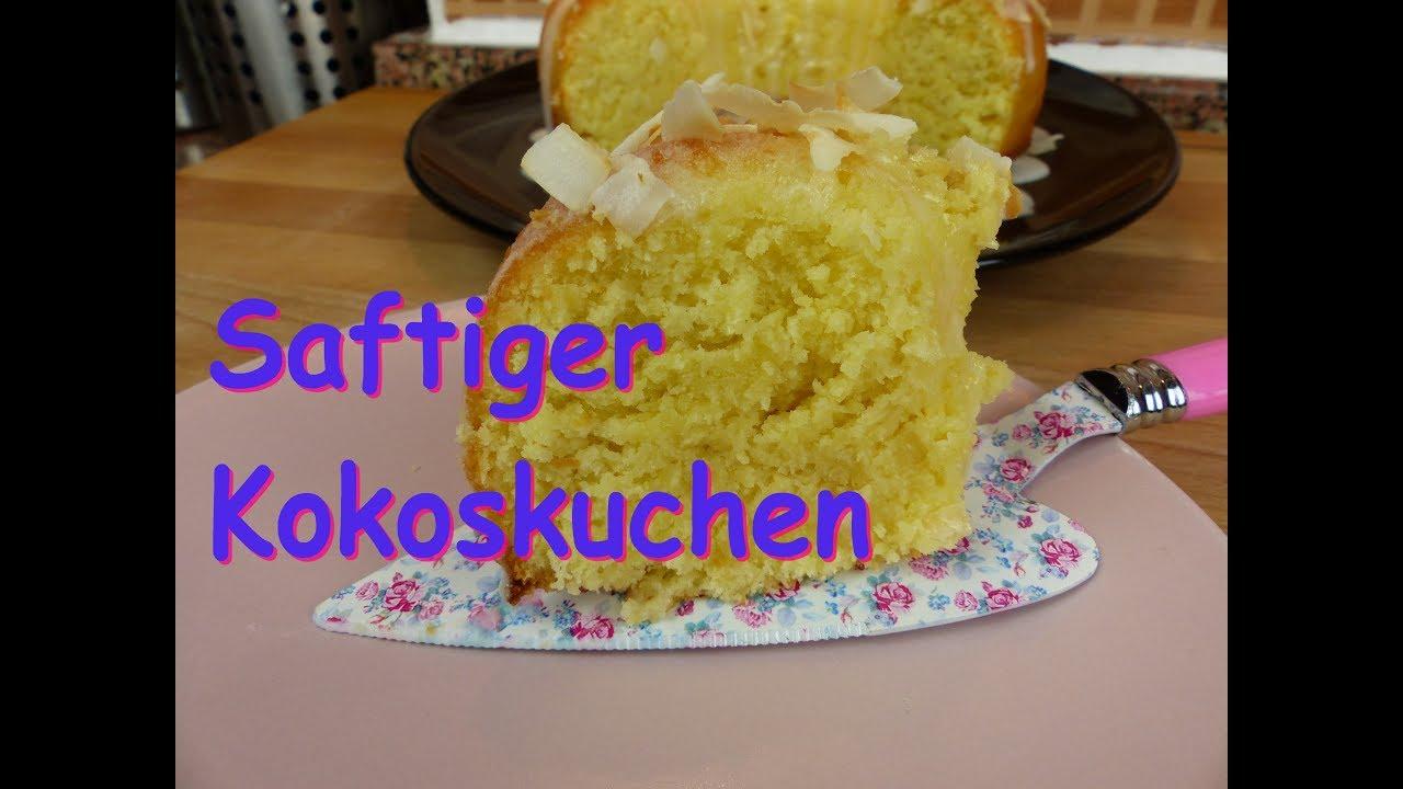 Saftiger Kokoskuchen Ruhrkuchen Rezept Mit Joghurt Gugelhupf