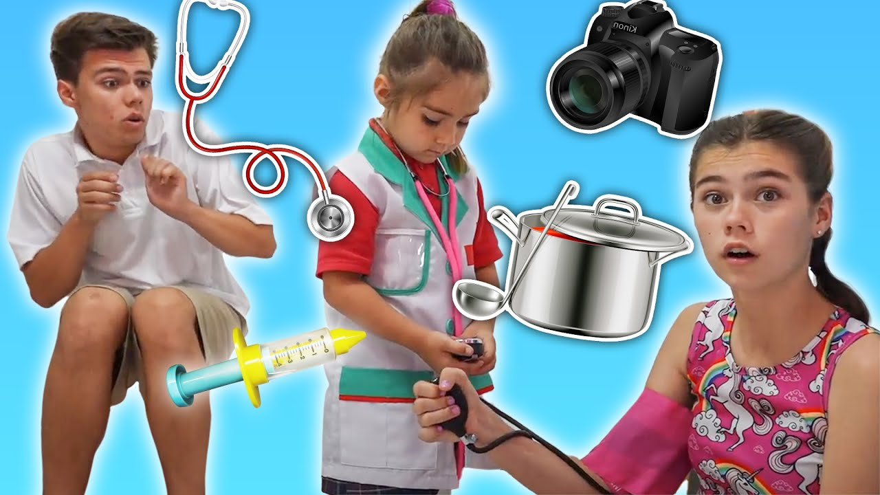 Mia juega diferentes profesiones mejores historias para quelos niños aprendan profesiones Nastya
