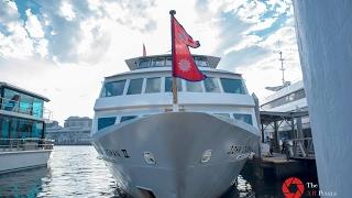 Nepal flag on cruise