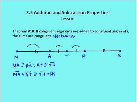 addition properties
