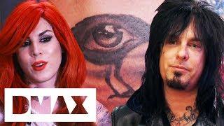 Kat Von D Tattoos Raven Eye For Former Boyfriend Nikki Sixx | LA Ink